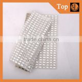 Decorative crystal hot fix rhinestone mesh,fabric with rhinestones,                                                                         Quality Choice