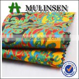 Shaoxing Mulinsen polyester pongee imitation batik print types of jacket fabric material