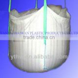 pp breathable bulk bag with loops in the corner/ fill spout and flat bottom