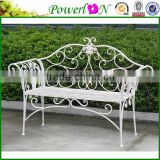Novelty Design Antique Wrough Iron Metal Park Bench For Public Park I21 TS11 X11B PL08-8574CP1