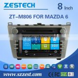 ZESTECH GPS digital media player car Accessories FOR MAZDA 6 with Win CE 6.0 system 800MHz 3G Phone GPS DVD BT