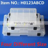 H0123ABCD Four Style Sealed Plastic Box Waterproof Fishing Box fishing lure tackle cooler box
