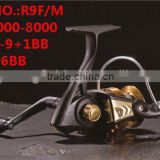 R9F Series Middle End Four Style Size 1000-6000 1+1-9+1BB Front Drag Spinning Fishing Reel carp fishing reel