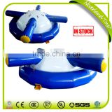 Hot Sale NEVERLAND TOYS High Quality Giant Blue Inflatable Saturn Spinning Top Toy Water Sports Equipment