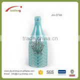 home & garden conch glazed blue wine bottle ceramic flower pot shape, ceramic cobalt blue pots