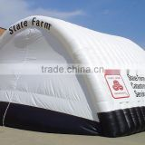 white blue inflatable carport garage with zip door