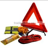 Car emergency tools with Warning Triangle