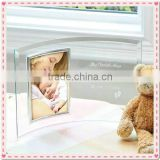 Customized Curve Glass Photo Frame For Baby Shower Decoration