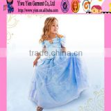 2015 factory price original selling high quality dress baby girl favourite long cinderella wedding dress