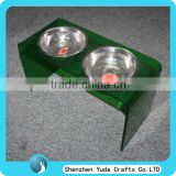 Modern Acrylic Pet Bowl, Color Bowl Feeder For Large Animal, Plexiglass Dog Feeding Bowl