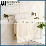 Sleek Buy From China Zinc Alloy Antique Bronze Finishing Bathroom Accessories Wall Mounted Double Towel Bar