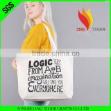 2016 Custom Printed Logo For Promotion Gift Recyclable stripe canvas beach tote bag wholesale