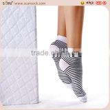 factory wholesale custom stripe black/white color tight ankle socks cotton new produce