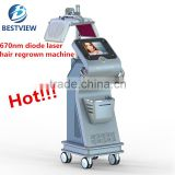 Best professional 670nm laser hair regrowing treatment beauty machine in China 2017 BM-666