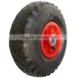 10 inch 3.00-4 plastic rim pneumatic rubber wheel for hand trucks