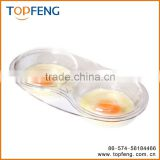 Microwave egg poacher , plastic egg poacher
