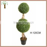 artificial boxwood tree with double balls for indoor decoration