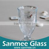 Good Quality Streak Carved Shot Glass/Glass Wine Goblet