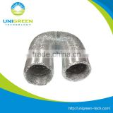 8'' Non-insulated Flexible Aluminum Duct for inline fan