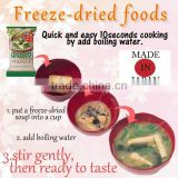 Delicious freeze-dried foods as emergency food , small lot order available
