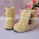 2015 Winter Hot Coming Baby Girl Knitted Booties,Handmade Kids Toddlers Shoes