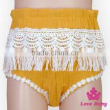 Baby Girls Sequin Short Pants Cotton Ruffle Tassel Lace Girl Short Pants Hot Baggy Fashion Girls Short Pants
