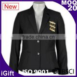 two button good quality anti-wrinkle customizable womens suit nice black suits for women