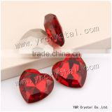4827 Crystal Beads 28mm Siam Color Red Heart Shaped Glass Stones For Jewelry