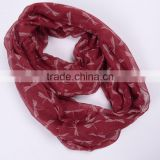 New Fashion Women Dragonfly Printed Infinity Scarf Snood ,Navy/wine Red /Black /olive green Color