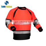Sellin warm leather mens reflective pullover comfortable and soft
