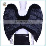 Adult Party Costume Cheap Large Black Feather Angel Wings HPC-0867