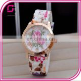 2014 Yiwu Supplier Women Flower Quartz Vogue Watch Wholesale