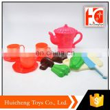 kid toy kitchen cutting vegetable and plastic teapot tea set toy for kids