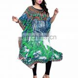 Women's Free Size 3D Digital Printed Kaftan / Casual Party Wear Free Size Kaftan 2017 (kaftan dress)