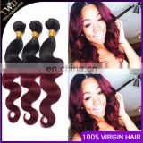 Burgundy Brazilian Hair Weave Red Ombre Human Hair Extension Body Wave Ombre Brazilian Hair