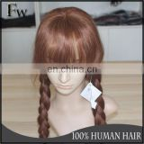 Full lace wig with clips small head wig and full lace wig with bangs
