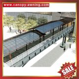 alu pc polycarbonate aluminum aluminium metal outdoor passage walkway corridor gazebo patio canopy canopies cover awning shelter manufacturers