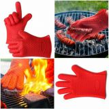 Heat Resistant Silicone BBQ Grill Oven Gloves, Silicone BBQ Grill Oven Mitt whatsapp: +8615992856971