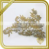 China manufacturer wholesale gold AB color wedding bridal applique FHA-049                                                                                                         Supplier's Choice