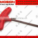 RED colour Torx wrench torx key T CNC tools screws key types of allen key T type plastic handle hex key wrench