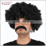 cheap black short afro wigs men