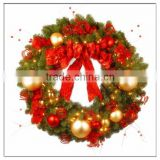 Christmas Deco Ball Wreath/Design ChinaNew Factory Plastic Custom Christmas wreath / PVC wreath / PE wreath for Chirstmas