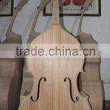 Fully handmade high quality fully carved double bass wood bass body white bass