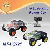Mini Tudou MT-HQ721 27mHz 1:10 Scale Four-Wheel Drive High Speed 50 km/h Remote Control Off-Road Power Nitro Rc Car