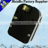 German French convert British adaptor plug with grounding