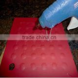 Custom silicone heat pad for glue gun