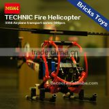 Decool 3356 Airplane Transport Series 300pcs Technic Fire Helicopter Model Bricks Toys Children gift