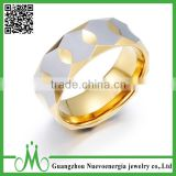 High quality hot selling product tungsten gold couple ring men luxury jewelry 18k gold ring
