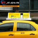 Taxi cab roof top ads led light box logo sign