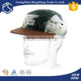 Wholesale sude brim 5 panel camp cap hat